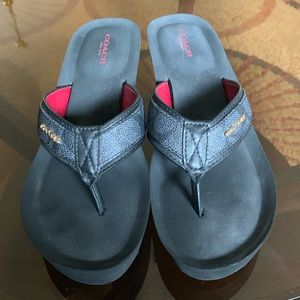 Coach Wedge Flip Flop Sandals Sizes 9 and 9.5